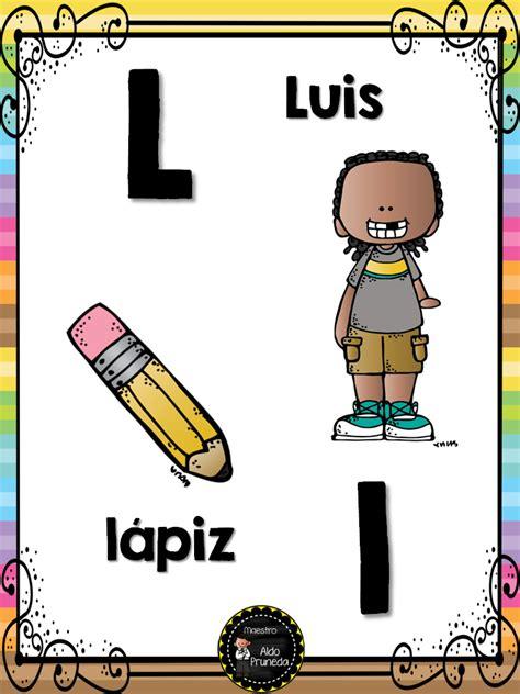 abecedario nombres propios 13 imagenes educativas