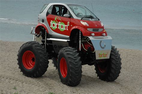 cambered smart car smart car turned monster truck offroad monsters