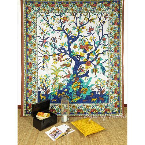 tenture murale arbre de vie marron hippie mandala indien arbre de vie tenture tapisserie murale ebay