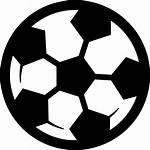 Bola Football Icon Svg Hitam Sepak Putih