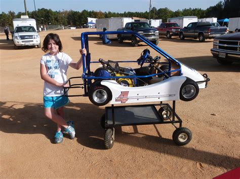Victoria Ezell races JR 1 Champs in her Helix Champ kart.