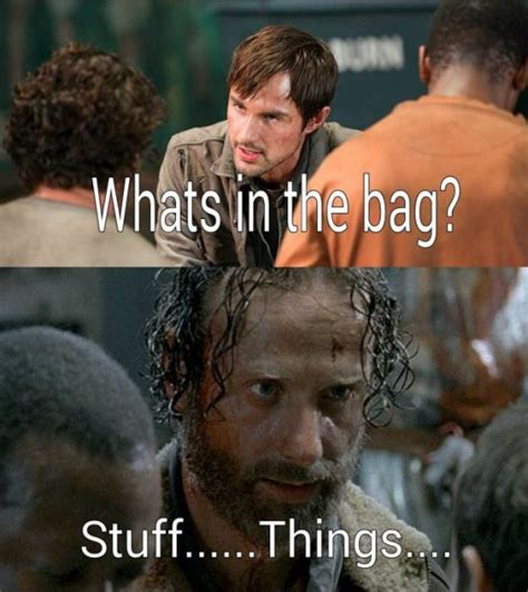 Stuff And Things Meme - the funniest walking dead memes inspired by season 5 27 pics 4 gifs picture 7