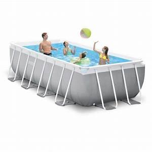 Piscine Hors Sol Rectangulaire Intex : piscine hors sol autoportante rectangulaire prism frame intex 26788 ex 26776 400 x 200 x 100 cm ~ Melissatoandfro.com Idées de Décoration
