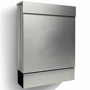 Briefkasten Edelstahl Design : letterman m radius design briefkasten edelstahl mit zeitungsfach moderner postkasten mit ~ Markanthonyermac.com Haus und Dekorationen