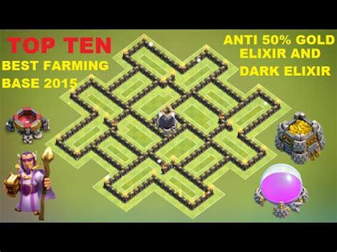 h9 top 2 farmig base elixir gold coc th9 farming base anti 50 gold elixir anti Coc