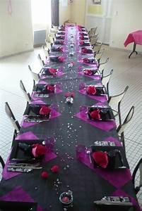 Deco Table 18 Ans : c t d co rose et noir la suisse normande ~ Dallasstarsshop.com Idées de Décoration