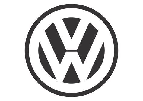 Volkswagen (black White Mode) Logo Vector