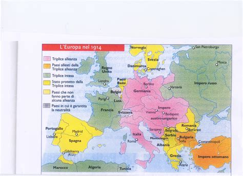 Carte De L Europe En 1914 Et 1918 by Europe 14 18