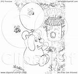 Coloring Honey Bear Outline Balloon Hive Float Royalty Using Clipart Illustration Bannykh Alex Rf sketch template