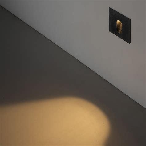 odl041 1 watt recessed exterior led wall light outdoor