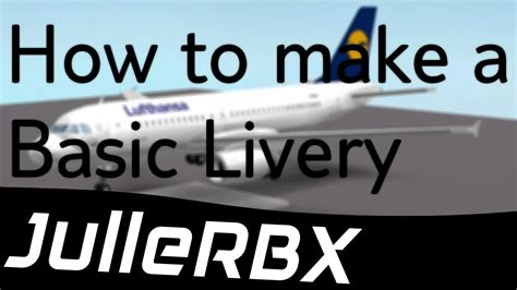 Roblox Tutorial  How To Make A Basic Livery For Yrrebs A319 (lufthansa) Youtube