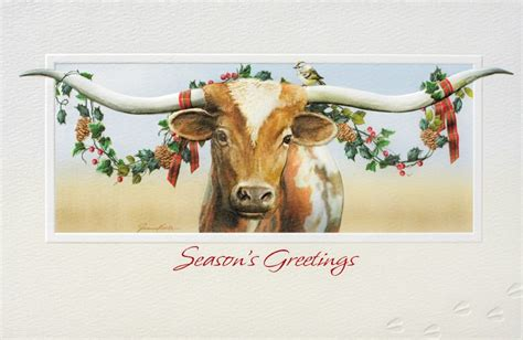 longhorn christmas card christmas card christmas cards