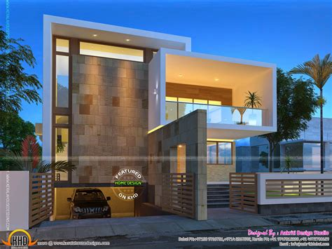 house plans with attached guest house beautiful contemporary home views kerala home