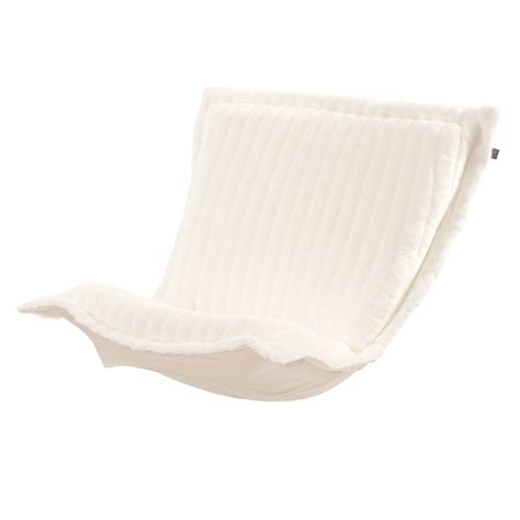 puff chair replacement cover with cushion mink snow