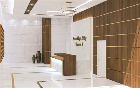 modern lobby design render  building  turkey  behance