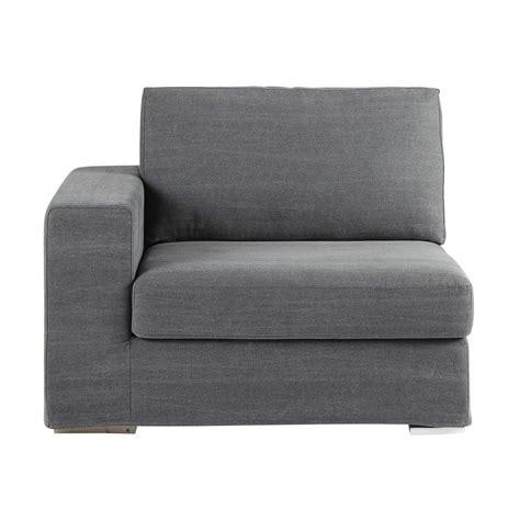 accoudoir de canapé accoudoir gauche de canapé en coton gris anvers maisons
