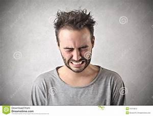 Sad man crying stock photo. Image of misfortune, gloom ...