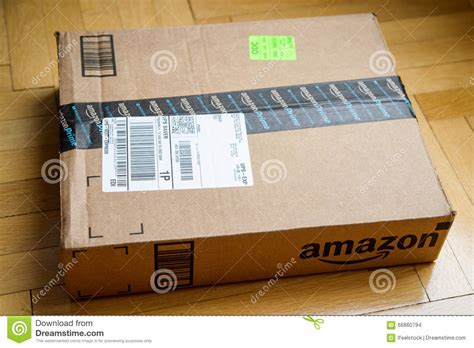 amazon prime floor ls amazon box on wooden floor editorial stock image image