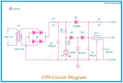 Circuit Diagram Ups Uninterruptible Power Supply