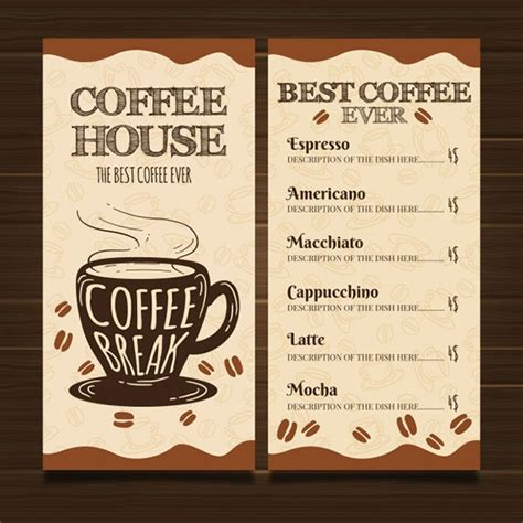 Choose from 240+ coffee menu graphic resources and download in the form of png, eps, ai or psd. 44+ Coffee Shop Menu Templates - Free PSD Vector PNG Ai Downloads