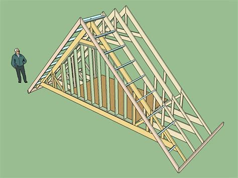 Gable End Attic Truss With Structural Outlookers