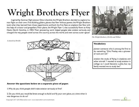 wright brothers printable yahoo image search results