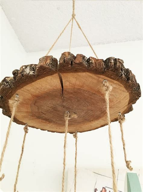 Mit Holzscheiben Basteln Für Eine Natürliche Wirkende