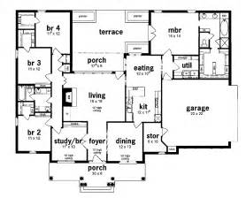 5 bedroom house plans 1 story floor plan 5 bedrooms single story five bedroom european home bedrooms