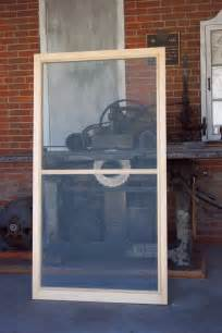 Custom Wood Window Screens