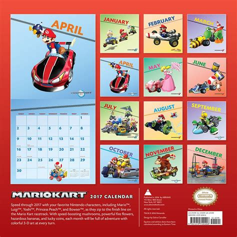Calendario Kart 2019 A Closer Look At The Mario Kart 2017 Wall Calendar