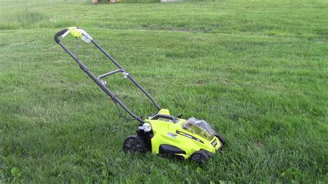 ryobi  lawn mower    high cap batteries