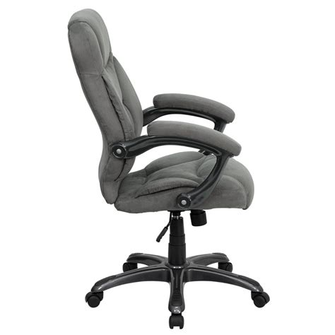 high back gray upholstered contemporary office chair go