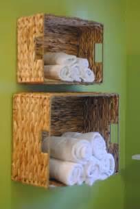 bathroom basket ideas diy bathroom towel storage in 5 minutes lemonade