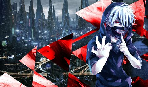 Abstract Anime Wallpaper - tokyo ghoul kaneki ken blue abstract anime