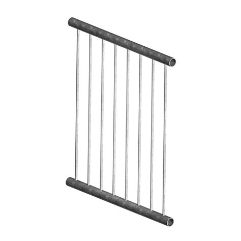 Balustrade Panel 900mm Wide Monowills Link Modular Railing