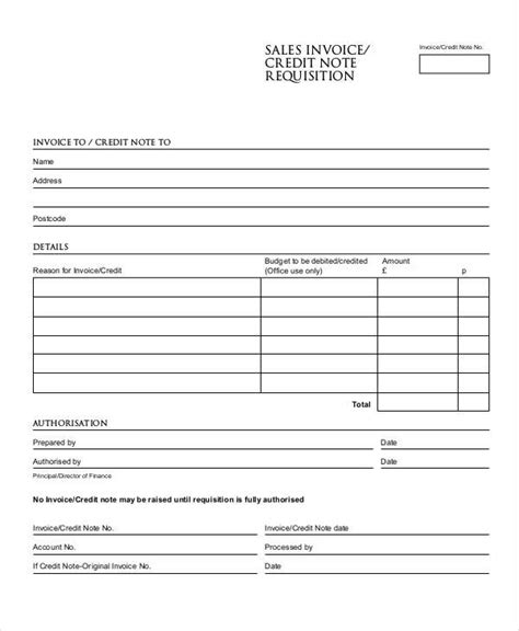 credit note examples samples    examples