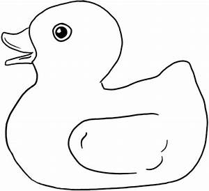 Rubber Duck Free Coloring Pages