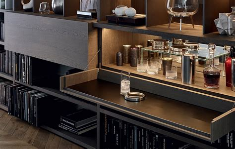 bookcases poliform wall system news
