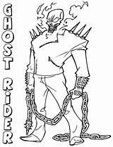 Rider Ghost Coloring Cartoon Ghostrider sketch template