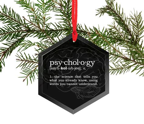psychology funny definition glass christmas tree ornament