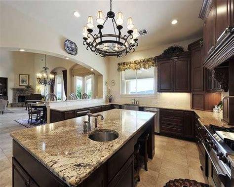 kitchen cabinets brown granite kitchen