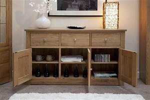 Kingston solid oak living dining room furniture large