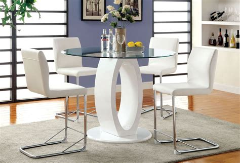 modern counter height table lodia white counter height table set