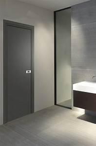 Porte Interieur Design : bloc porte premium miro cuir basalt reivilo ~ Melissatoandfro.com Idées de Décoration