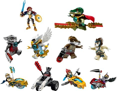 Chima Lego 10 Characters Decal Removable Wall Sticker Home