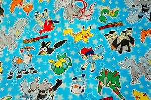 pokemon fabric pokemon and stars fat