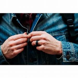 qalo men39s step edge q2x flat silicone wedding ring academy With qalo wedding ring