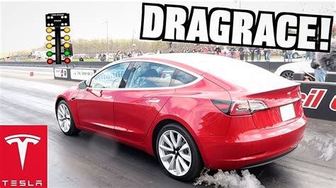 I Set The Tesla Model 3 1/4 Mile Record At Streetspeed717