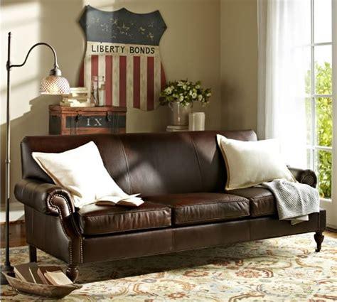 pottery barn leather sofa reviews brooklyn leather sofa pottery barn