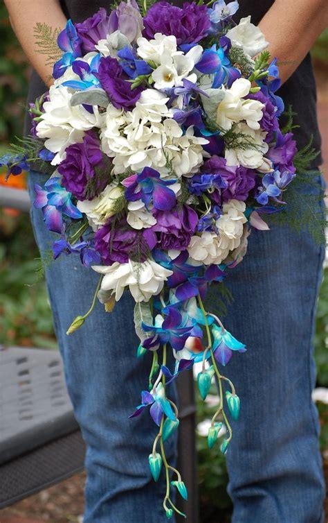 Bridal Bouquet Of White Hydrangea White Freesia Dark